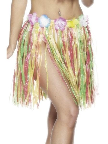 Hawaiikjol med blommor 46 cm