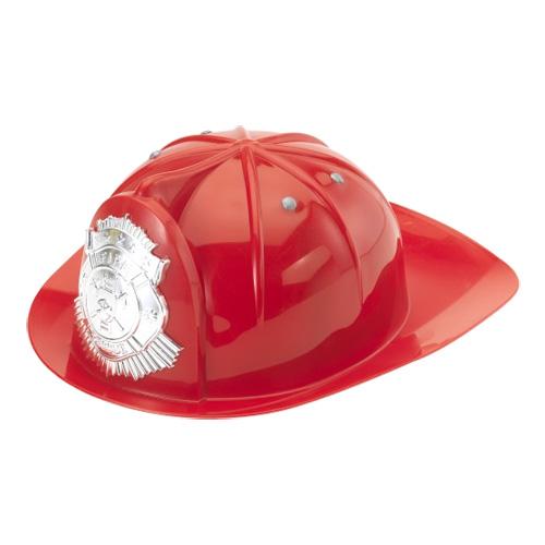 Röd brandmanshjälm