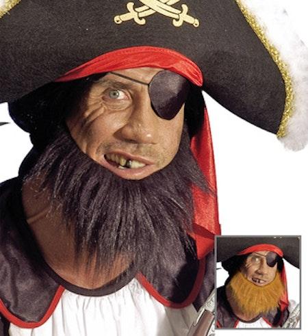 Piratskägg Svart