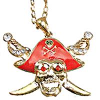 Pirat döskalle halsband Maskerad