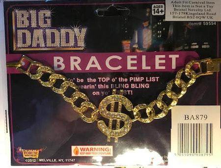 Big Daddy Pimp armband Maskerad