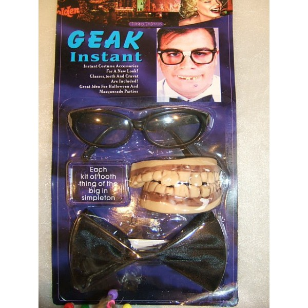 Nörd set Geak Instant Maskerad