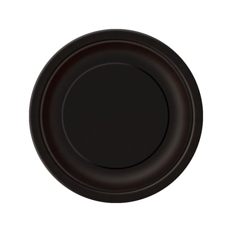 Svarta papperstallrikar 8-pack