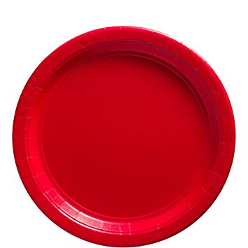 Röda papperstallrikar 8-pack