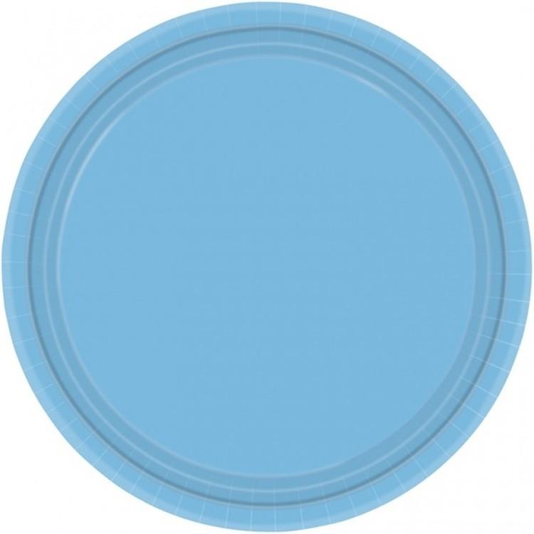 Blå papperstallrikar, 8-pack
