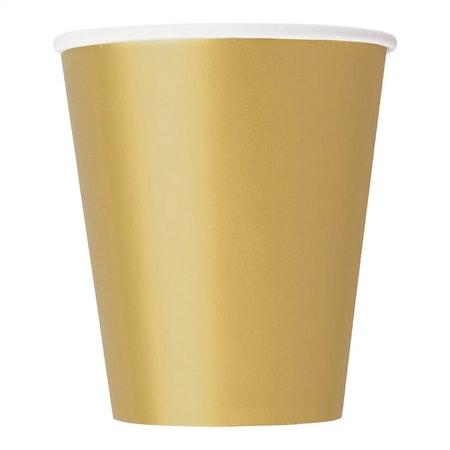 Guld pappermuggar
