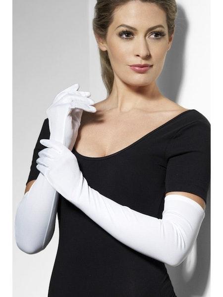 Vita handskar långa