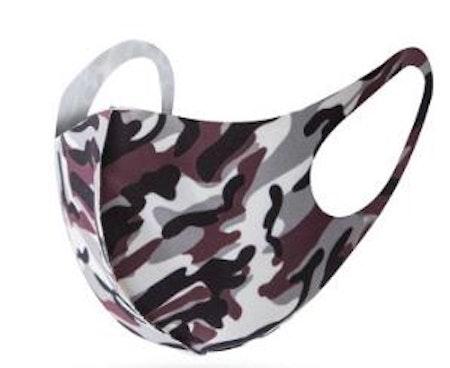 Tvättbart munskydd camouflage färgade i bekväm design