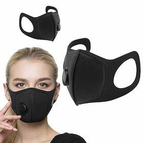 Tvättbart Munskydd / Mask Ventil med 2.5 PM filter