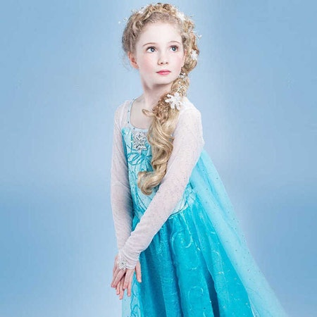 Frost Elsa prinsessklänning