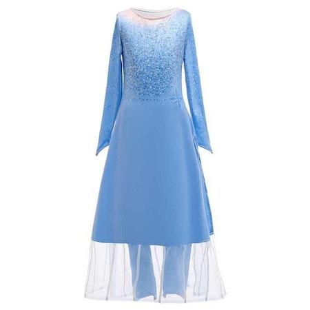 Frost Elsa prinsessklänning 2 delad