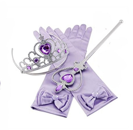 Lila Prinsess set
