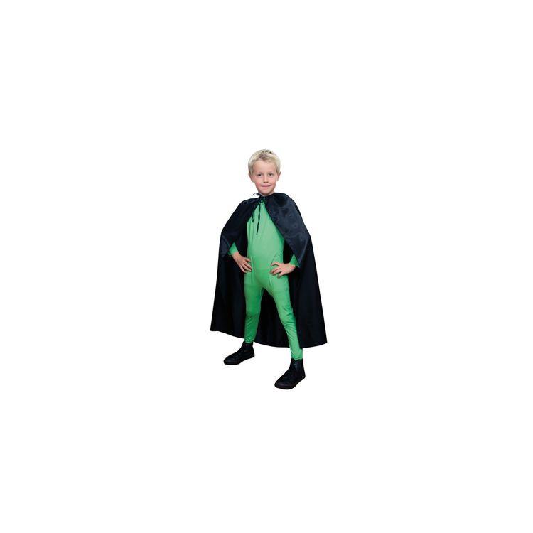 Svart Cape Mantel Barn 90cm Maskerad Halloween