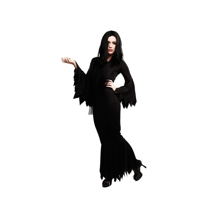Vampyria Morticia Adams Klänning Maskeradkläder Halloween