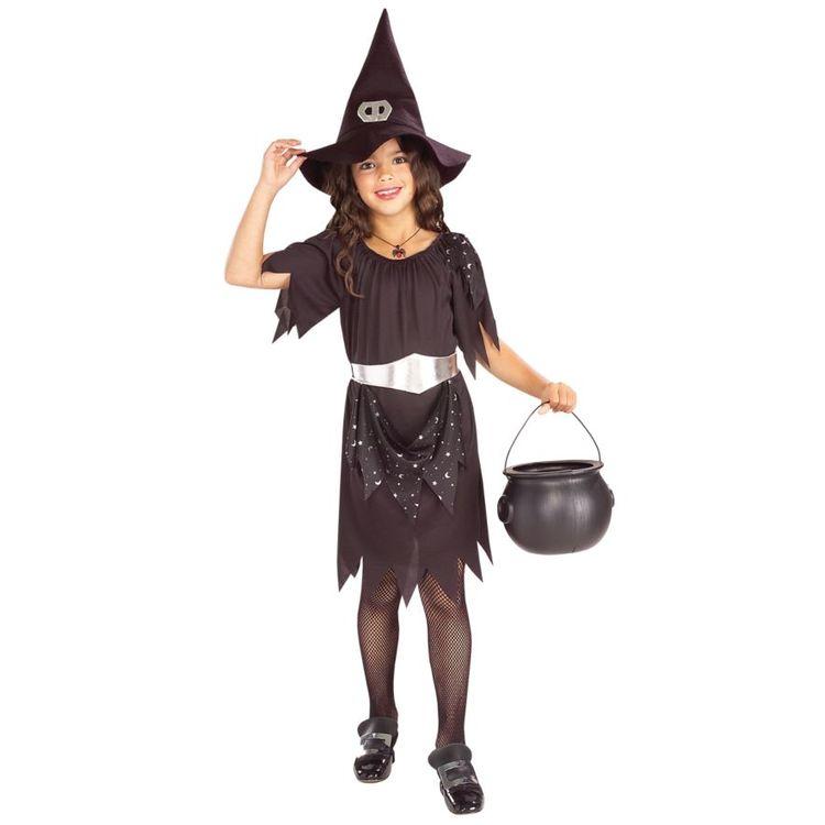 Häxklänning med Hatt Maskeradkläder Halloween