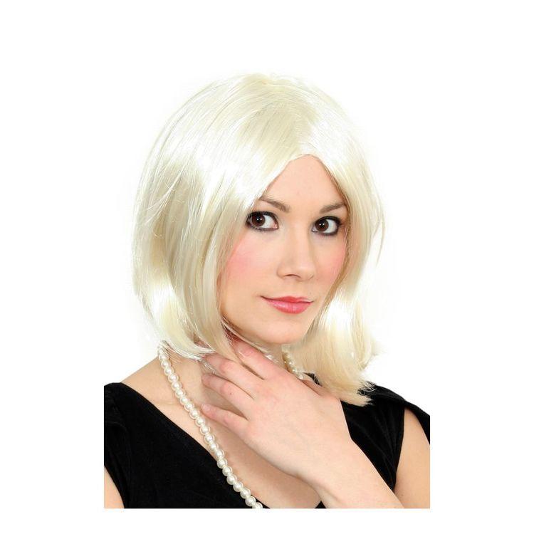 Blond Celebrity Peruk Maskerad Halloween