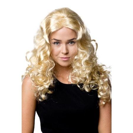 Blond Lång Jessica Peruk Maskerad Halloween
