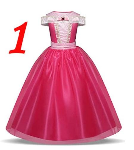 Rosa eller Blå klänning Prinsessklänning Maskeraddräkt