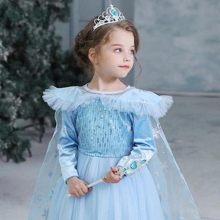 Elsa Prinsessklänning snöflinga Frost