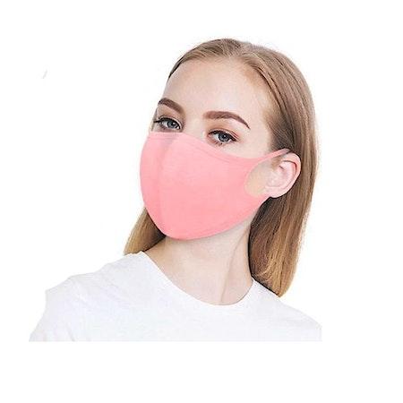 Rosa Tvättbara Munskydd i bekväm design