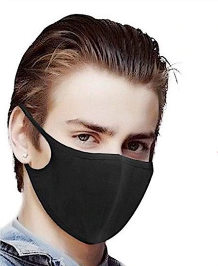 Svarta Tvättbara Munskydd i bekväm design 10-pack