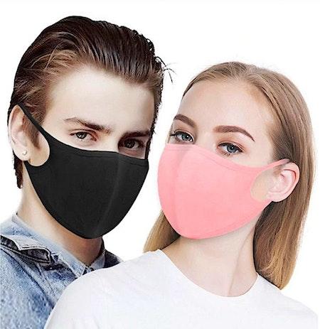 Rosa Tvättbara Munskydd i bekväm design 10-pack