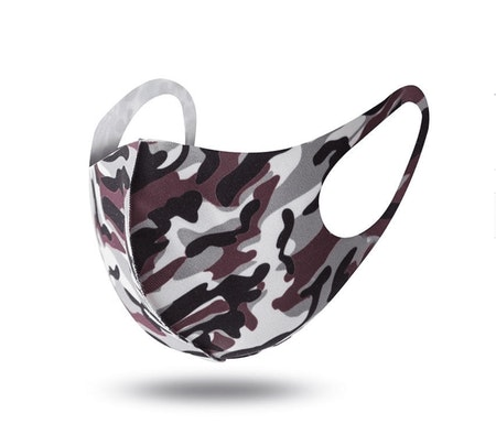 Tvättbara Munskydd i bekväm design Camouflage 10-pack