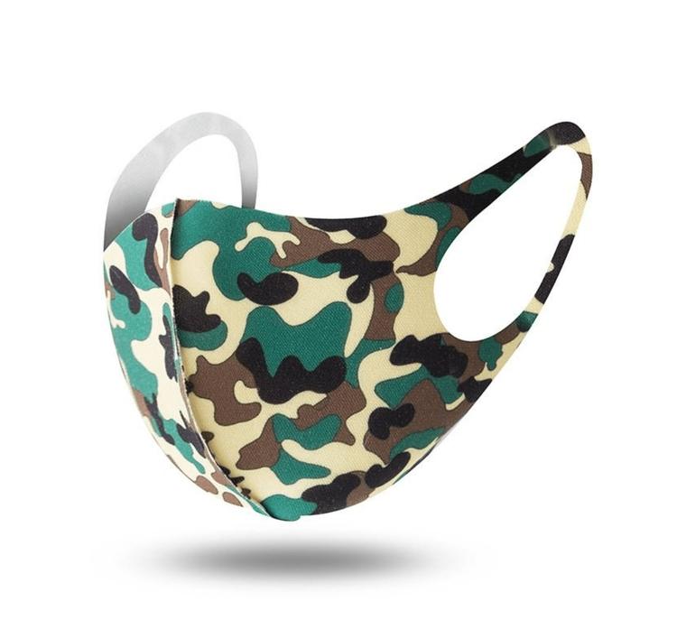 Tvättbara Munskydd i bekväm design Camouflage 3-pack
