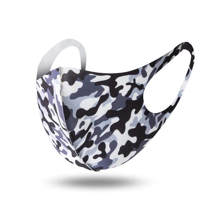 Tvättbart munskydd camouflage färgade i bekväm design 1-pack