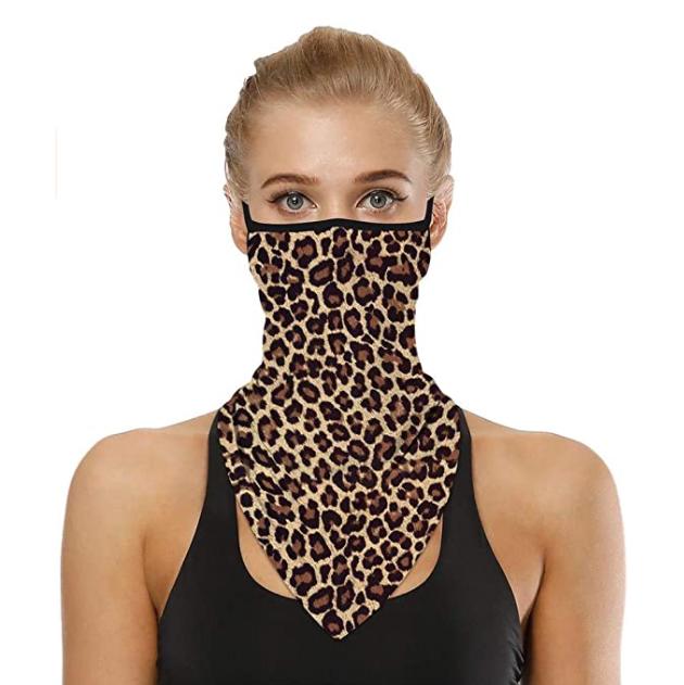 Munskydd Ansiktsscarf Bandana Baklava Tvättbar Leopard