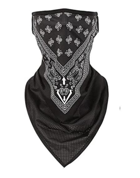 Munskydd Ansiktsscarf Bandana Baklava Tvättbar Svart och Vitt Mönster