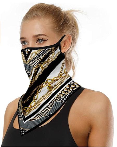 Munskydd Ansiktsscarf Bandana Baklava Tvättbar Mönstrad