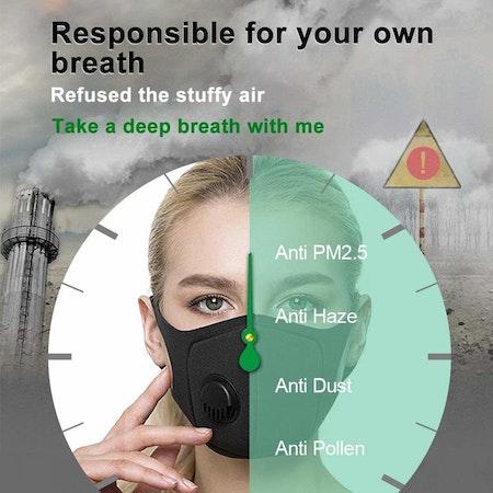 Tvättbart Munskydd / Mask Ventil 3-pack
