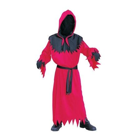 Djävulskåpa Röd/Svart Barn Maskeraddräkt Halloween