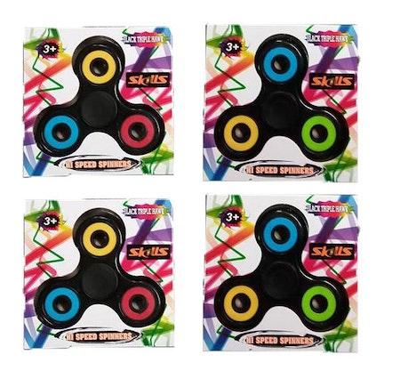 Fidget Spinner Hi Speed Spinner Black Triple Hawk