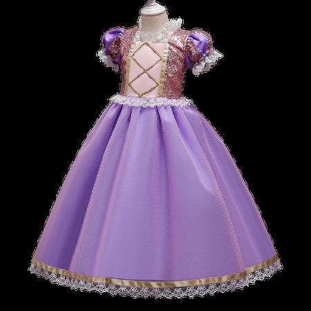 Anna prinsess klänning med dekorationer och spets