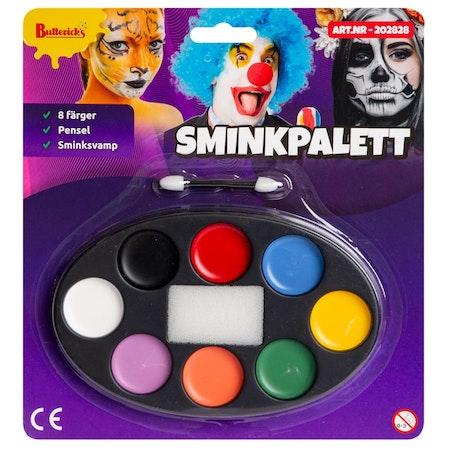 Sminkpalett med 8 färger