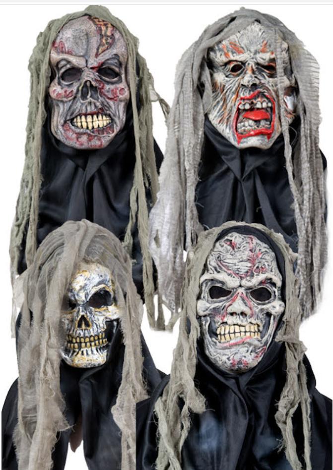 Spökmask med trasor 4 olika sorter