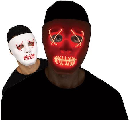 Mask med Lysande Trådar Vit/Röd