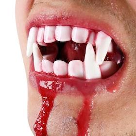 Dracula Tänder Med Blodampuller  Halloween