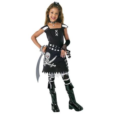 Svart Piratklänning Barn Halloween Maskeraddräkt