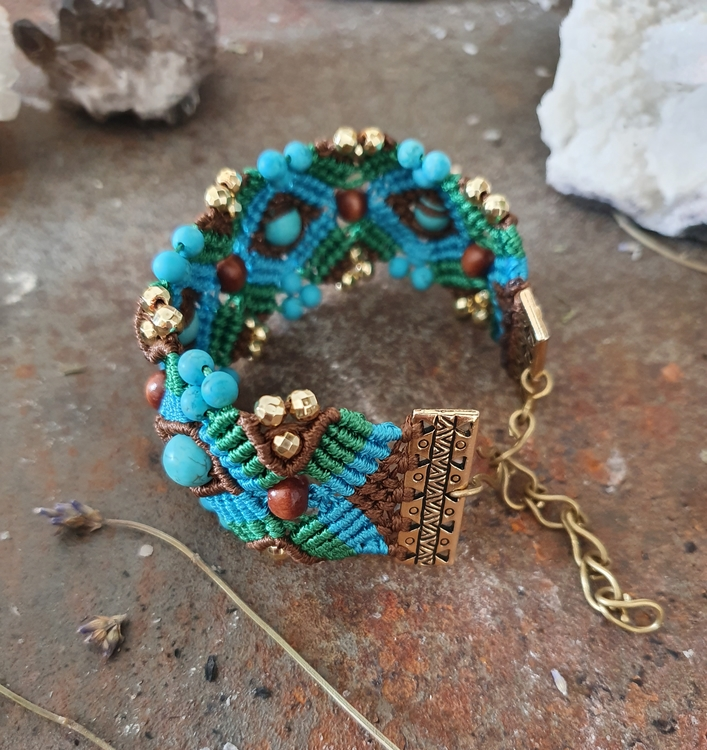 Crete, makrame armband