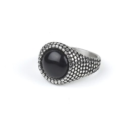 Ring Levi Dark Stone Silver