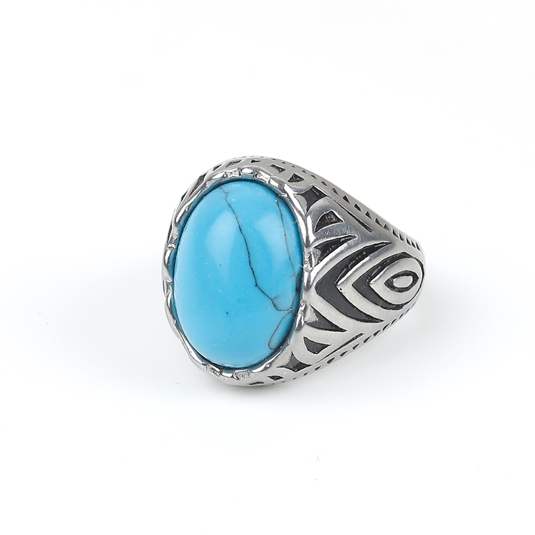 Blue Stone Ring Dylan Silver