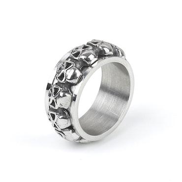 Skull Ring Men Silver