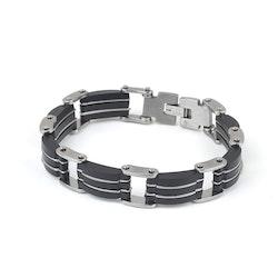 Bracelett Gabbe Black Silver