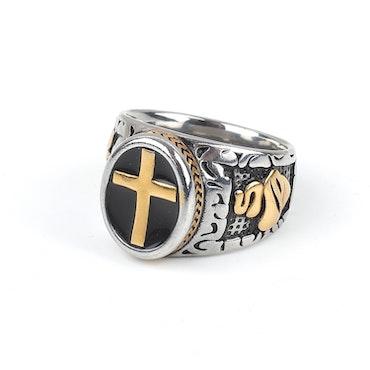Cross Ring Jack Silver
