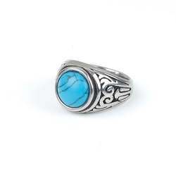 Blue Stone Ring Jacob Silver