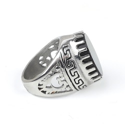 Big Block Wyatt Ring Silver