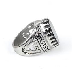 Big Block Wyatt Ring Silver